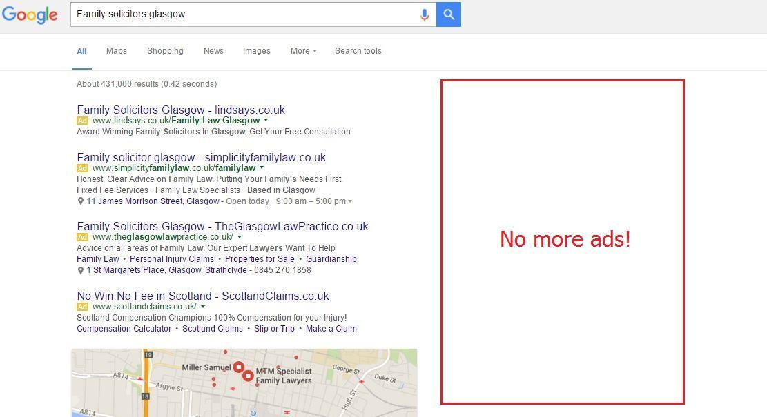 Google Removes Right-Hand Sidebar Ads