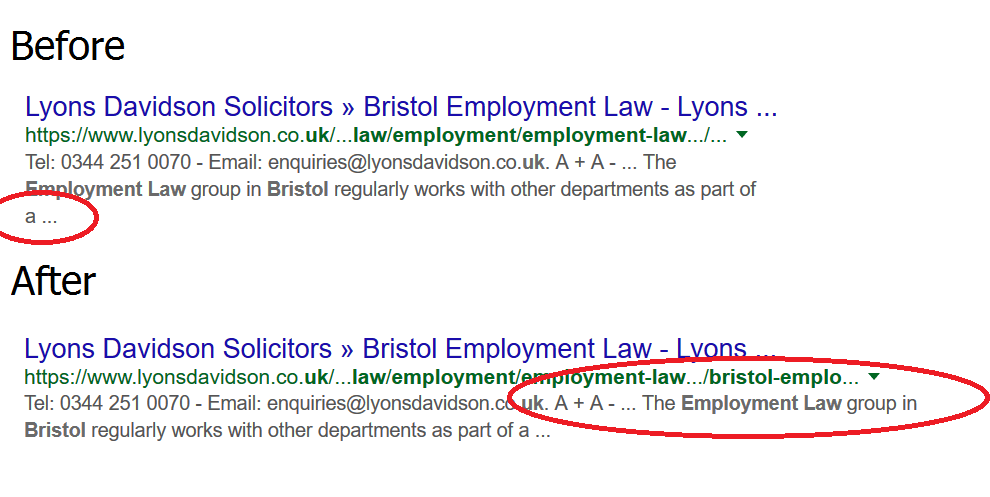 employment lawyers bristol seo rankings example lyons