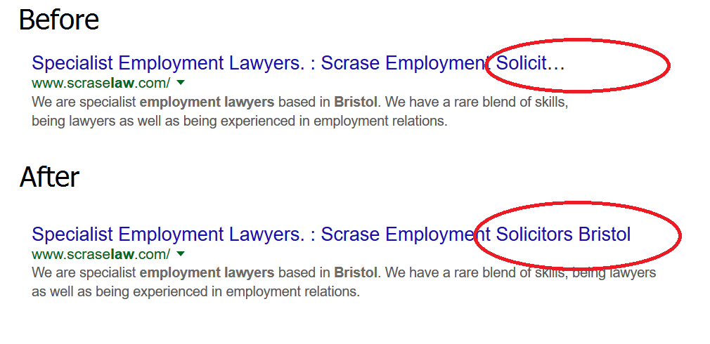 employment solicitors bristol search rankings change example