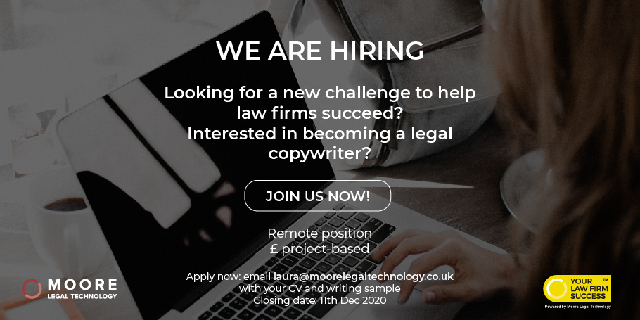 legal copywriter ad moore legal technology glasgow scotland