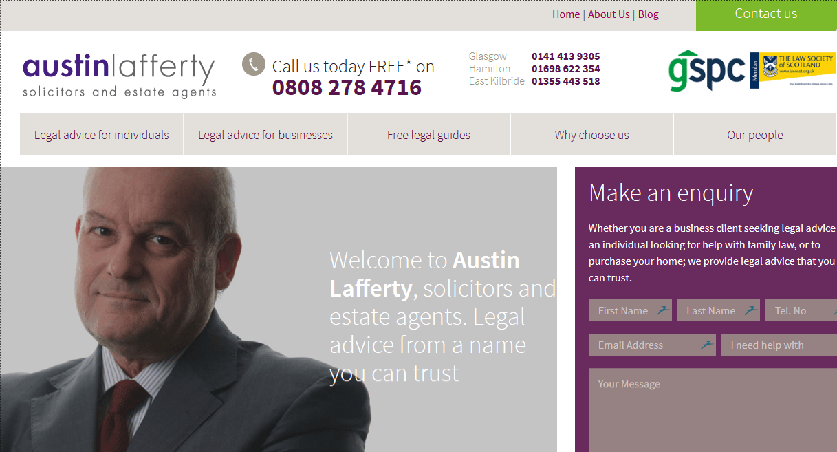 top lawyer website design example